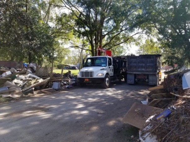 Josh Hoard and Alan Cliff spent six days helping New Bern recover from Hurricane Florence..