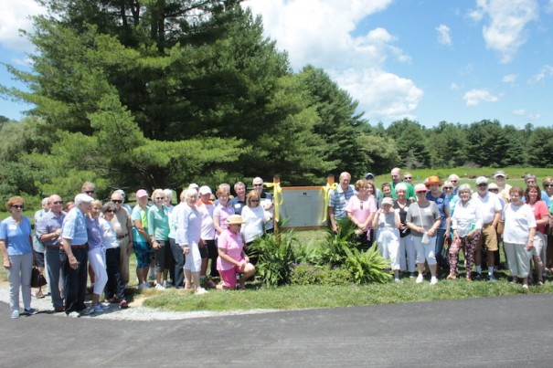 Donors sang 'Happy Trails' as they dedicated a doubling of the path length at the Park at Flat Rock to 2.8 miles.