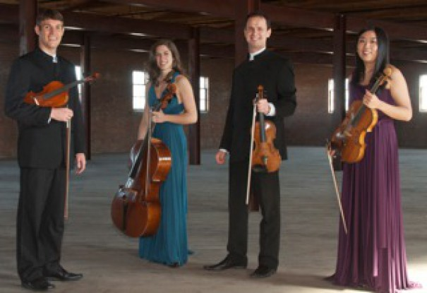 The Kontras String Quartet will perform at 3 p.m. Sunday, Feb. 8, at First Congregational Church.