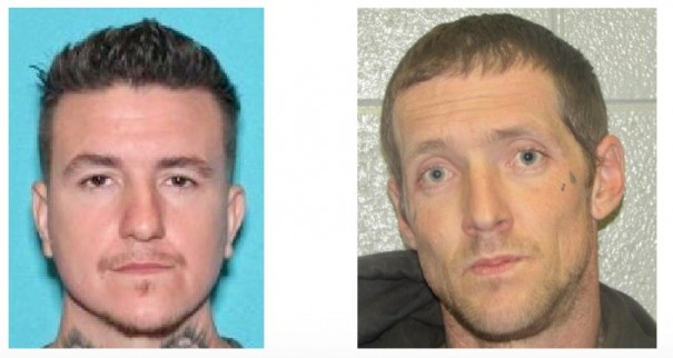 Michael Lee Sexton, who remains at large, and Daniel Allen Hamm are charged in connection with a robbery and assault.
