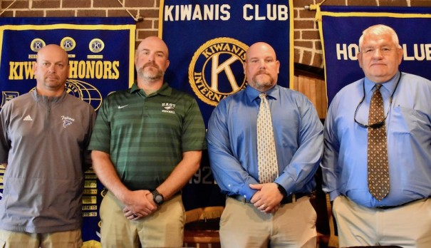 Head football coaches Paul Whitaker of West, Justin Heatherly of East, Jim Beatty of North and Jim Sosebee of Hendersonville previewed their 2019 squads.