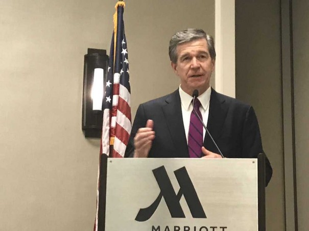 Gov. Roy Cooper is shown in a Lightning file photo.