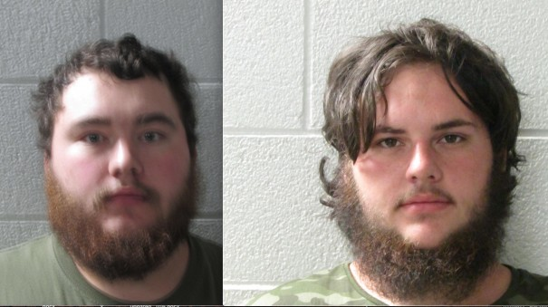 Bryson Freeman, 22, of Saluda, and Richard McMahan, 20, of Hendersonville, are charged with assault with a deadly weapon against a government official.