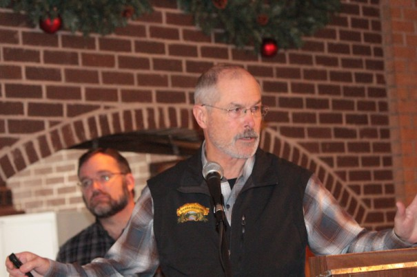 Stan Cooper, co-manager of the Sierra Nevada brewery in Mills River, explains the company plans to the Mills River Town Council.