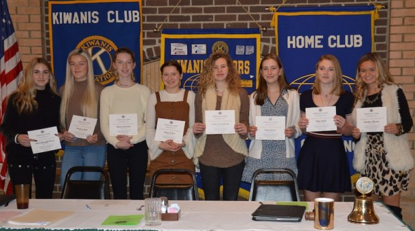The Kiwanis Club honored the women's tennis  All Stars. [STEVE EDWARDS/Kiwanis Club of Henderson County]