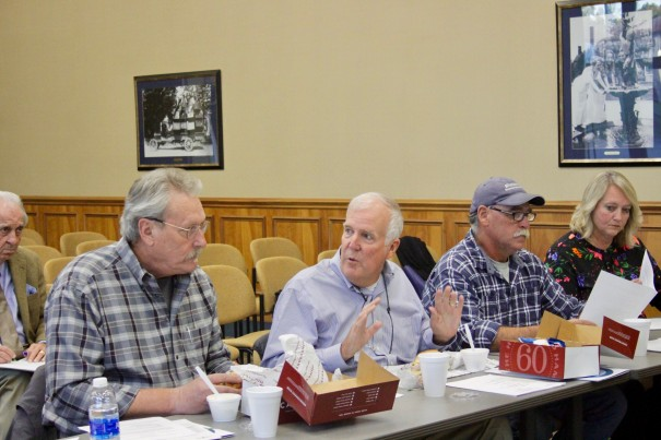 Bill Lapsley, center, and Steve Caraker (left) are shown at a joint water committee meeting in November.