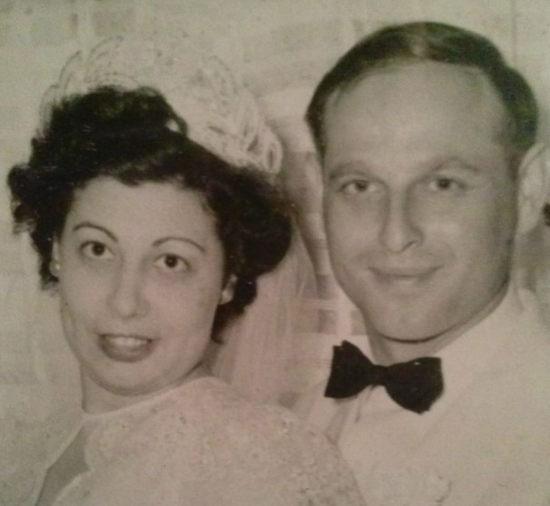 Flossie and Sammy Williams at their wedding in 1950/