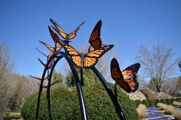 The Great Monarch Migration by Jim Gallucci is one of the pieces on display at the N.C. Arboretum.