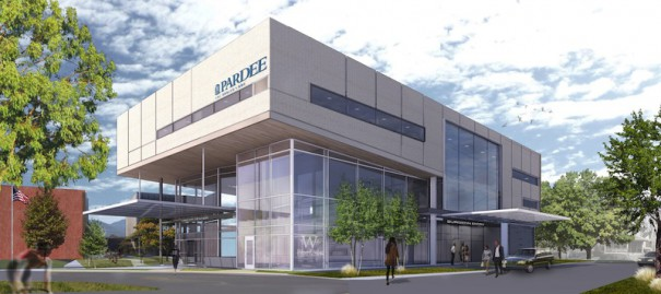 The Cancer Center at Pardee Hospital will occupy the ground floor of the $32 million Joint Medical Education Center.