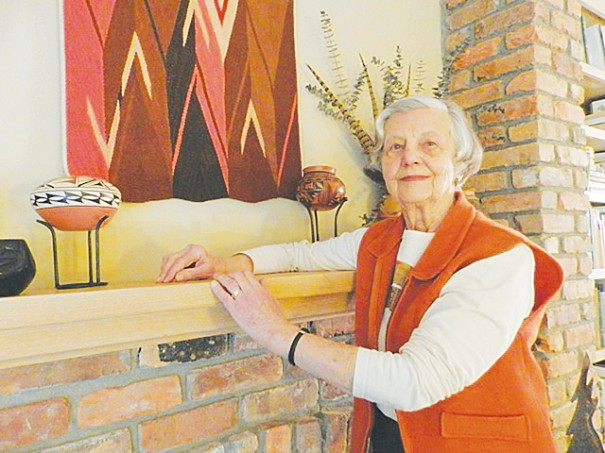 At 83, Bonnie Arbuckle is not only busy getting her hands dirty in the garden, she is pursuing a longtime interest in fiber arts.