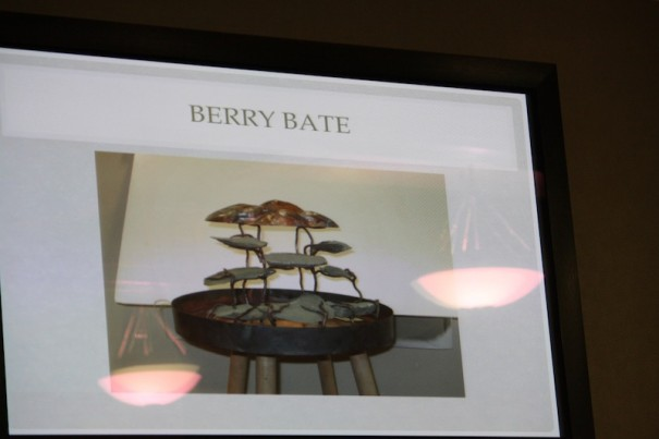 Finalist Berry Bate's model of a fountain on Main Street.