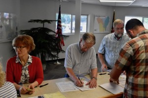 Anne Coletta, David Dethero and Tom Carpenter filed for Flat Rock Village Council on Friday.
