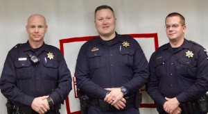 Sheriff's deputies Scott Aly, Billy Brittain and Ricky Woodard are assigned fulltime to Mills River under a contract between the town and the sheriff's office.