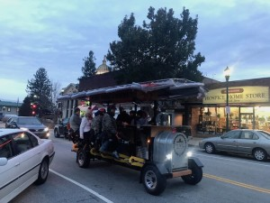 The new HVL Pedal & Brews pubcycle travels north on Main Street to the Historic Seventh Avenue District.