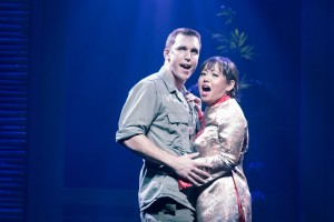 Eddie Egan and Diana Huey star in Miss Saigon at the Flat Rock Playhouse. [PHOTO BY JAMES JOHNSON]