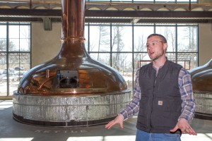 Brian Grossman leads a media tour of the new Sierra Nevada Brewing Co.